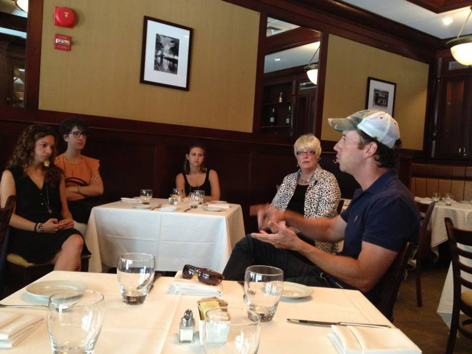 Chef Geoff Tracy talks to SPRINT students about restaurant life.